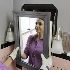 can you paint a metal medicine cabinet install a mirrored medicine cabinet and vanity light
