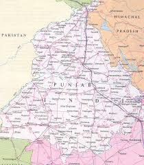 map in road map of punjab tourist and road map of punjab