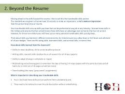 How To Name The Resume Skills Beyond The Resume