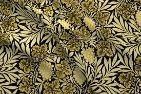william morris jungle vines spring green fabric