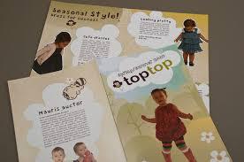 cute kids apparel brochure template inkd