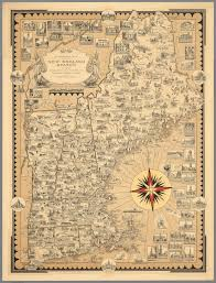 New England States Map by Pictorial Map Of The New England States U S A David Rumsey