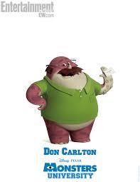 monsters university don carlton poster