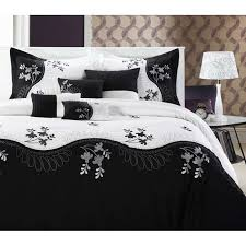 Black And White Comforter Full Zspmed Of Black And White Bedding Set Simple In Small Home Decor