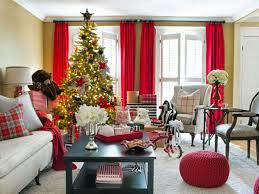 living room original brian patrick flynn holiday house red black