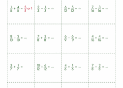 subtracting fractions worksheets education com