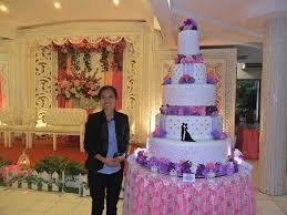 wedding cake tangerang wedding cake by the purple wedding cake bridestory