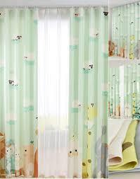 Green Nursery Curtains Light Green Zoo Patterned Nursery Curtains