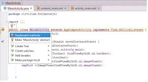 android onclick framelayout in android studio pcs