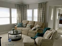 sherwin williams repose gray in living room with beige couch