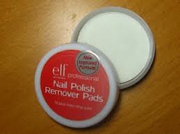 mmnoob elf nail polish remover pads review