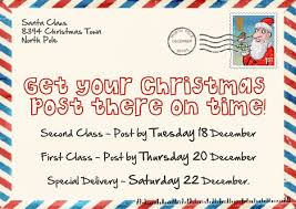 last posting dates for christmas make sure you post your christmas items before these dates to