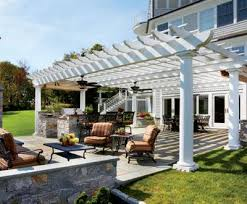 Large Pergola Designs by Large Span Pergola Open Your Imagination To Enjoying An Outdoor