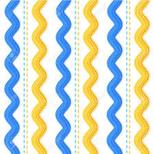 ric rac ribbon seamless repeatable ric rac ribbons and sewing stitches pattern