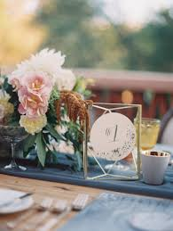 modern table numbers a romantic outdoor wedding with a vintage ice cream themed