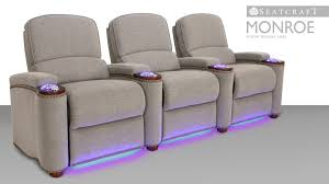 home theater stage seatcraft monroe home theater seating youtube