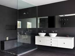 Black And White Ceramic Floor Tile Modern Silver Round Wall Mounted Head Shower Neat Black Granite