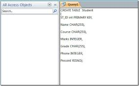 how to create a table in access tables in access 2010 using sql commands