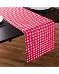red and white table runner sale 13 x 90 in red white checkered table runner