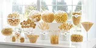 gold candy buffet supplies gold candy u0026 containers party city