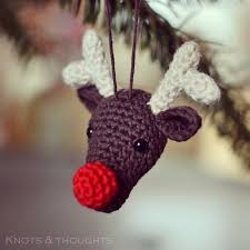 rudolph the red nosed reindeer christmas ornament free amigurumi