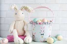 rabbit easter basket easter basket sewing pattern the polka dot chair