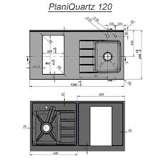 cuisine monobloc plan de travail monobloc planiquartz avec évier à droite 120cm