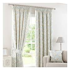 Duck Egg And Gold Curtains Dunelm Mill Duck Egg Country Garden Pencil Pleat Curtains Panel