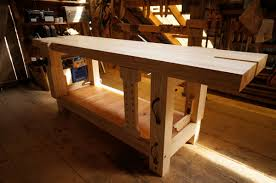 finished ash split top roubo workbench the year of mud