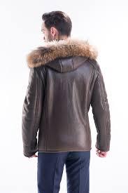 hooded fur coat for men