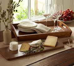 personalized cheese platter vintage wood cheese board pottery barn
