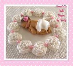 1 x large baby cake topper on plaque baby shower christening