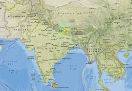 Nepal World Map Massive Earthquake Kills Well Over 1 000 People In Nepal Georgia