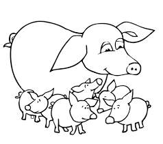 mother coloring pages printable baby pigs and mother coloring page free printable coloring pages