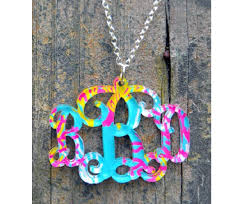monogram acrylic necklace monogram acrylic necklace patterned collection