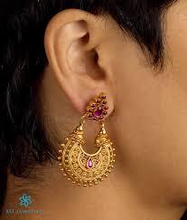 chandbali earrings silver chand bali ko jewellery