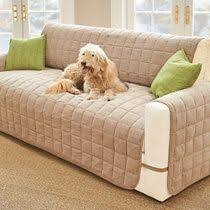 Pet Chair Covers Quilted Micro Suede Pet Dog Couch Sofa Furniture Protector Cover