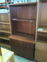 Used Executive Office Furniture Los Angeles Walnut Bookcase With Lateral File Cabinet U2013 New And Used Office