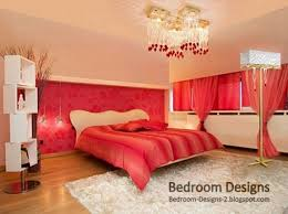 Red Curtains In Bedroom - master bedroom design with red curtains and crystal chandelier