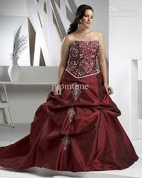 burgundy accent beaded embroidery bridal gown plus size wedding