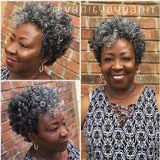 how to wear short natural gray hair for black women vanitybydanit jpg 3 crochet braids pinterest gray hair
