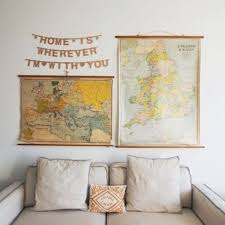 Map Home Decor Wanderlust Style Vintage Maps As Decor A Friend Afar