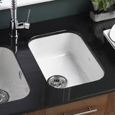 ceramic undermount kitchen sinks lincoln 2540 half bowl white ceramic undermount sink