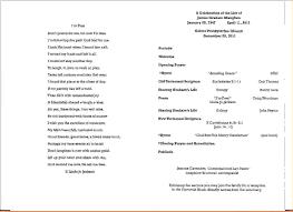 memorial service program 10 memorial service programsagenda template sle agenda