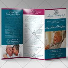 Tri Fold Program Printable Funeral Program Premium Tri Fold Brochure Psd Template