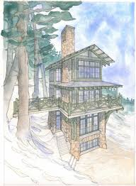 build up with this home plan for a tower cabin cabin living