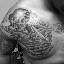heaven tattoos on stairway to heaven cloud