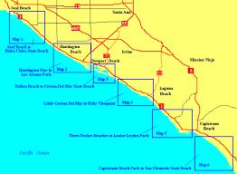 california map laguna orange county beaches laguna