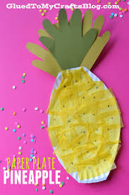 plate pineapple kid craft