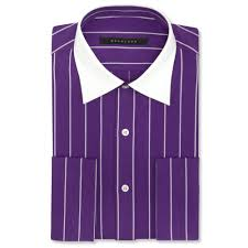 sean john big and tall pinstripe french cuff shirt in purple for